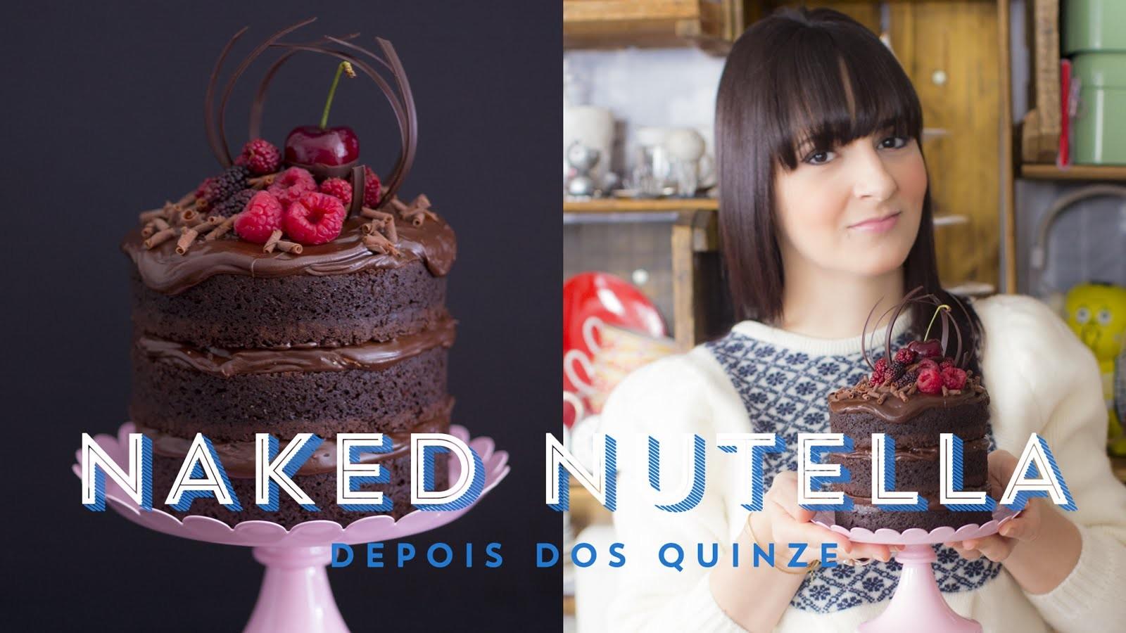 MINI NAKED CAKE DE CHOCOLATE E NUTELLA (Bolo Pelado) | Depois dos Quinze 24 #ICKFD