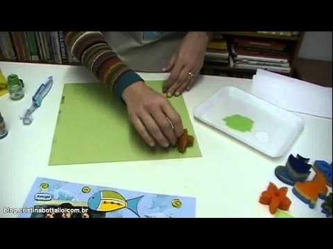 Miniaula de scrapbook personalizado com estampas