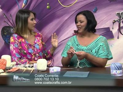 Mulher.com 16.12.2013 Eliete Massi - Blusa crochê de grampo Parte 1.2