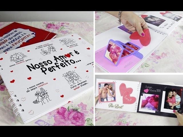 Presente para o namorado - Como Decorar um Álbum Scrapbook - Kathy Castricini