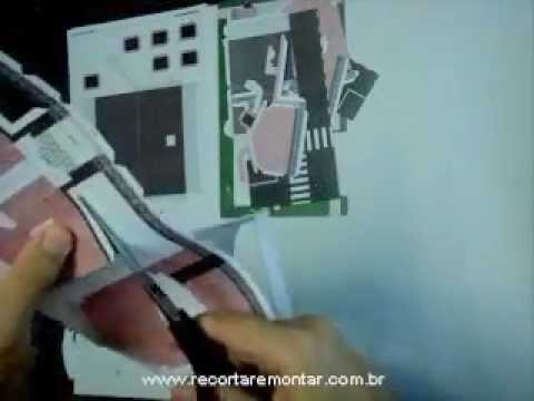 Recortar e Montar Papercraft - Miniatura HS001 - Video 1 - Recortando.wmv