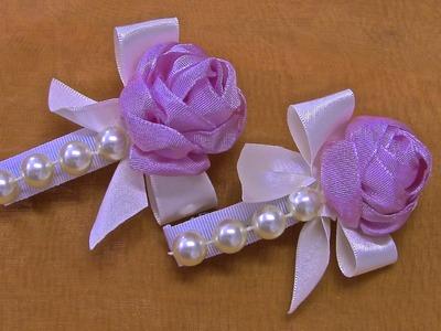 Rosa em Cetim e perolas  Passo a Passo - fabric flowers