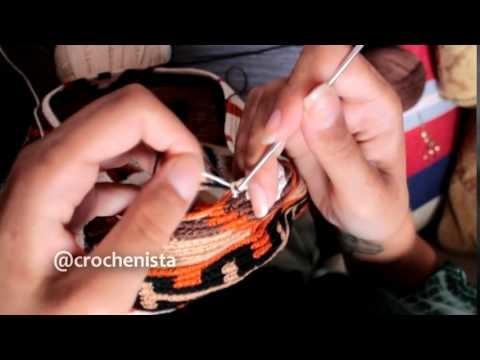 Técnica de fio conduzido - Bolsa Wayuu