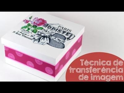 Técnica de Transferencia de Imagem para Caixa em MDF