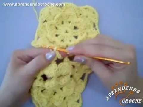 Aprenda a unir os motivos quadrados no croche - Aprendendo Crochê
