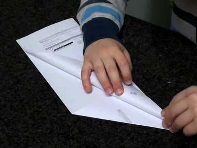 Aviao a jato de papel - Origami - Como Fazer - DIY - por Tiago Pires