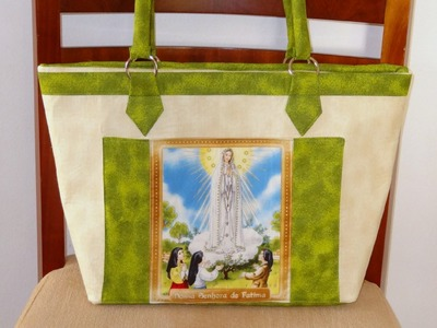 Bolsa Nossa Senhora de Fátima - Maria Adna Ateliê - Bolsa em tecido - Bolsas Santos