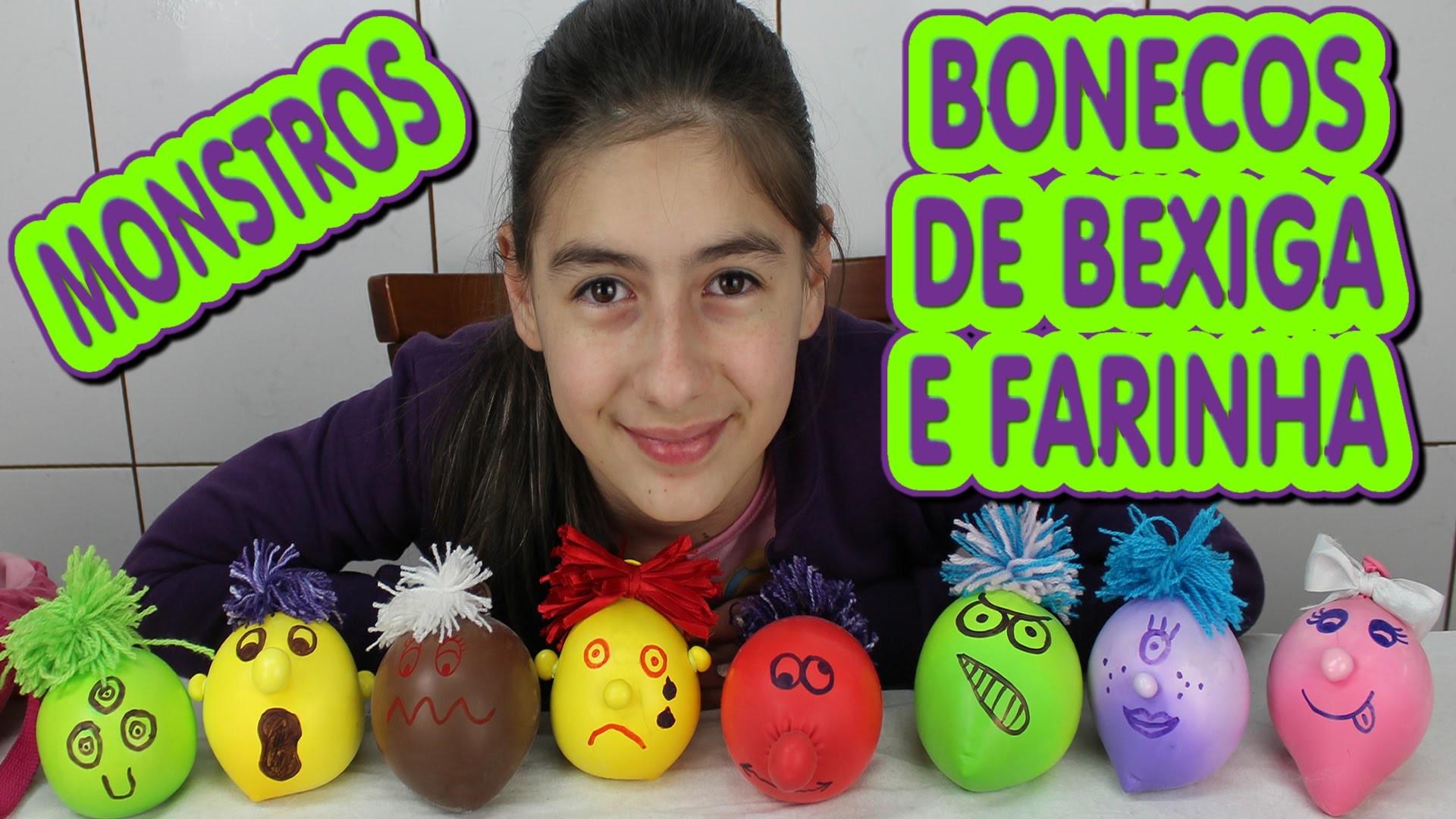 Boneco de bexiga com Farinha como fazer (Monstro, Diferente, Amido, DIY) Monster Bladder and Flour
