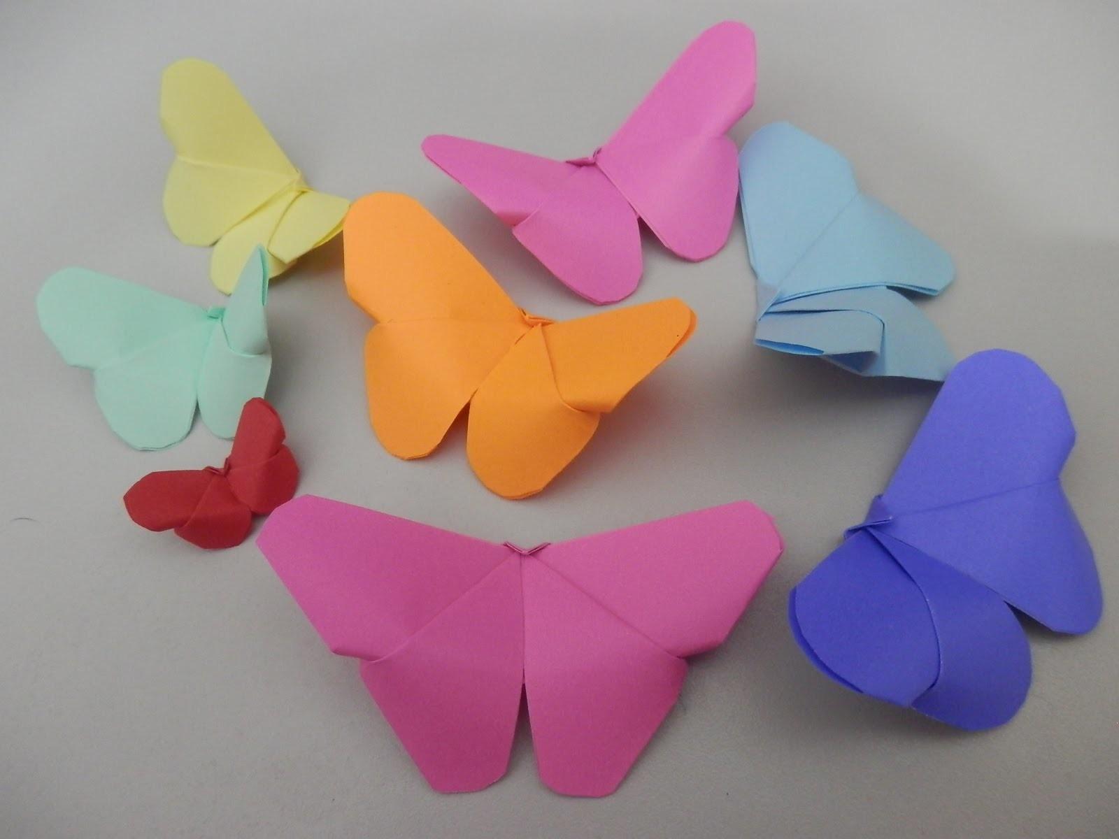 Borboleta Origami - Kirigami