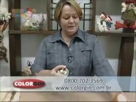 Colorgin no Ateliê na TV - Vaso com flores de fibra de bananeira