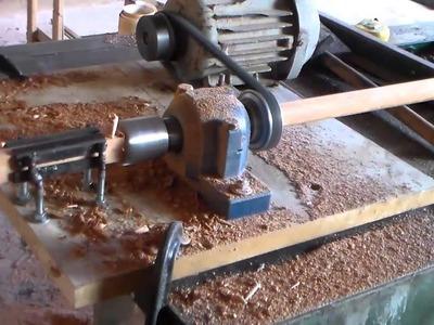 Como arredondar madeiras p\ fazer peças de  artesanato ( 1 de 3 )
