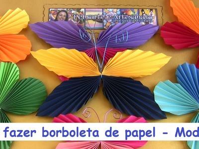 COMO FAZER BORBOLETA DE PAPEL MODELO 3