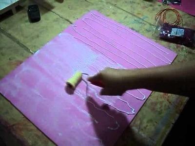 Como fazer e.v.a com Glitter (Ateliê Fran E.V.Artes)