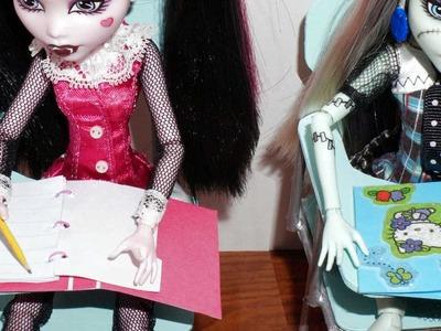 Como fazer fichário para boneca Monster High, Barbie, MLP, EAH, etc