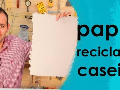 Como fazer papel reciclado em casa (experimento de Química)