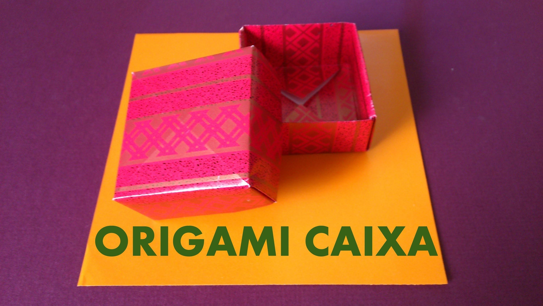 Como fazer uma CAIXA de Presente de Origami - Papiroflexia, Dobraduras de papel.