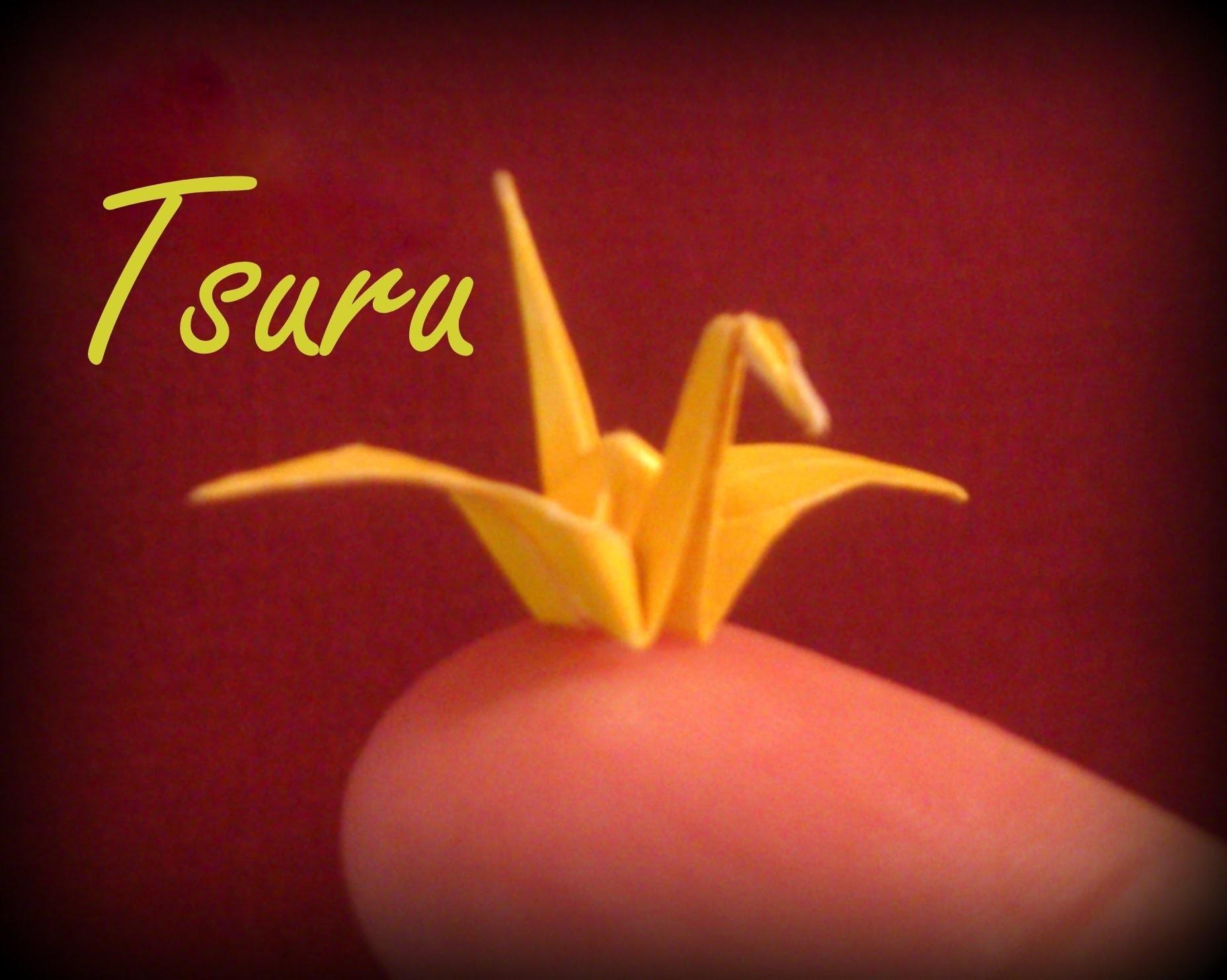 Como fazer uma Dobradura de PÁSSARO Origami - DIY  TSURU