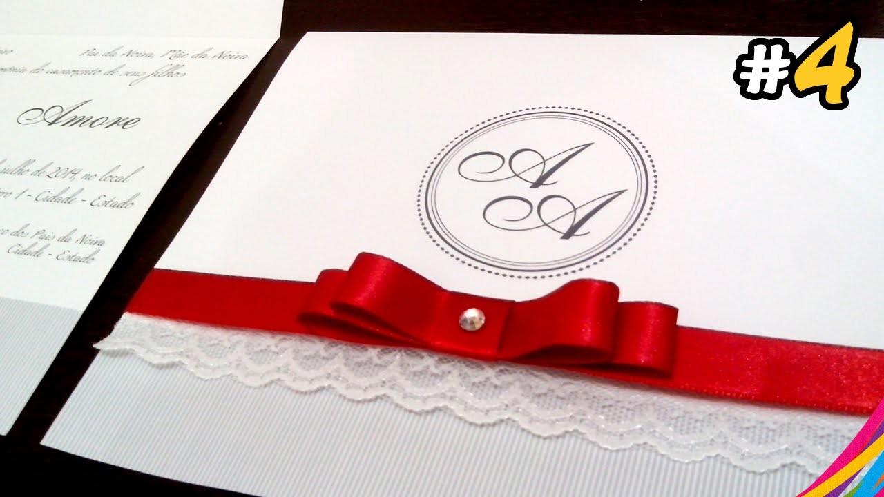 Convite de Casamento. Wedding Invitation. Invitacion de la Boda DIY #4