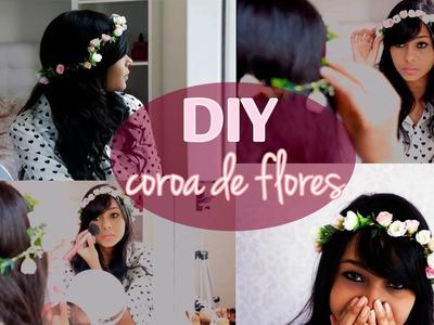 DIY: Como fazer uma coroa de flores - muito fácil