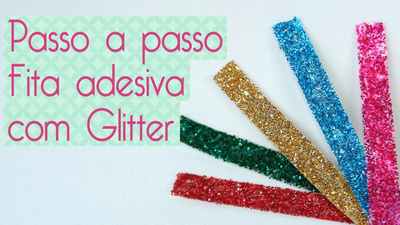 DIY Fita adesiva Glitter