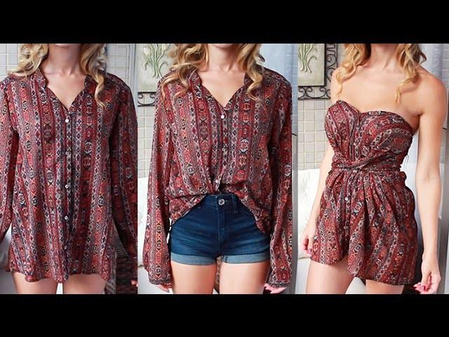 DIY: Transforme uma camisa em vestido!