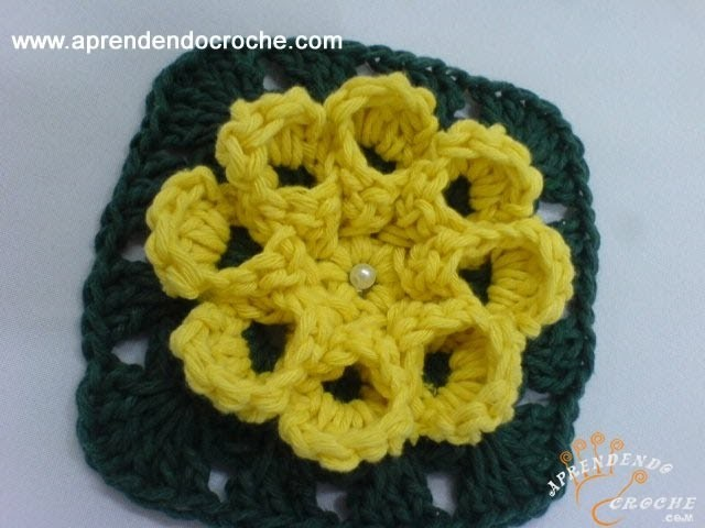 Flor Dália em Crochê - 2º Parte - Aprendendo Crochê