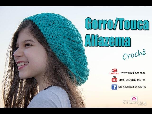 Gorro de Crochê Alfazema - passo a passo - #ProfessoraSimone