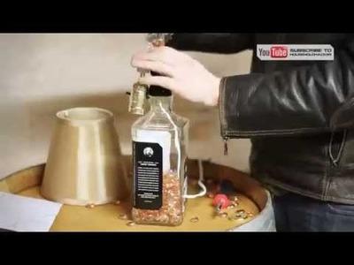 Luminária com garrafa de bebida - Como fazer
