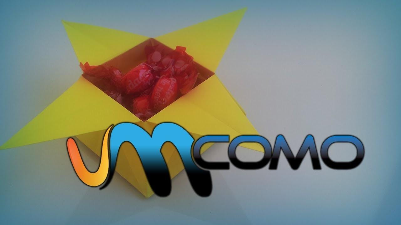 Origami - Como fazer uma caixa de papel em forma de estrela