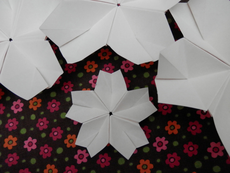 Origami flor de cerejeira - Sakura 2