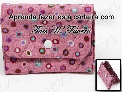 Passo a Passo de uma carteira em tecido por Taís H. Fávero