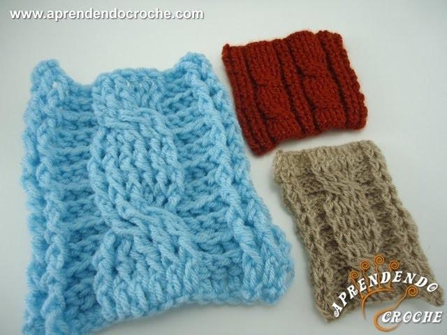 Ponto Trança no Crochê - 1º Parte - Aprendendo Crochê