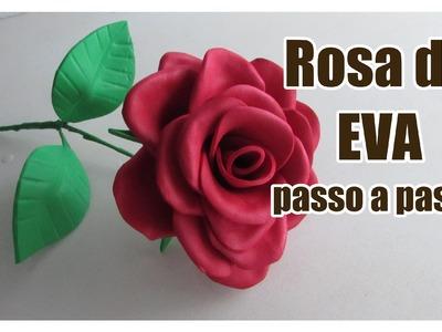 Rosa de E.V.A passo a passo