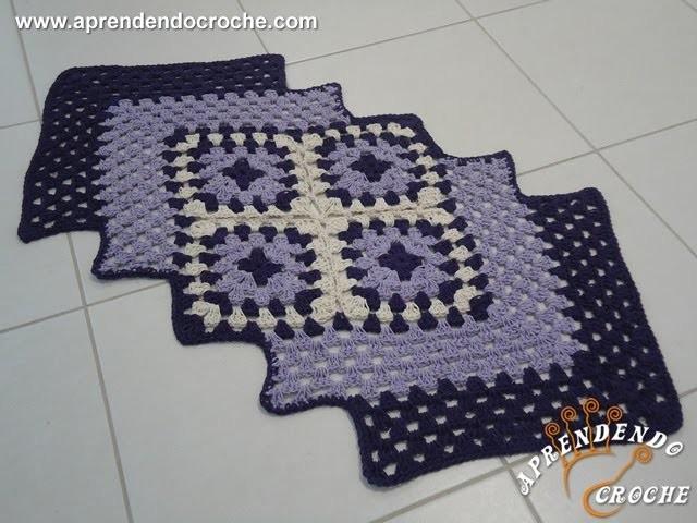 Tapete de Croche Efeito - Aprendendo Crochê