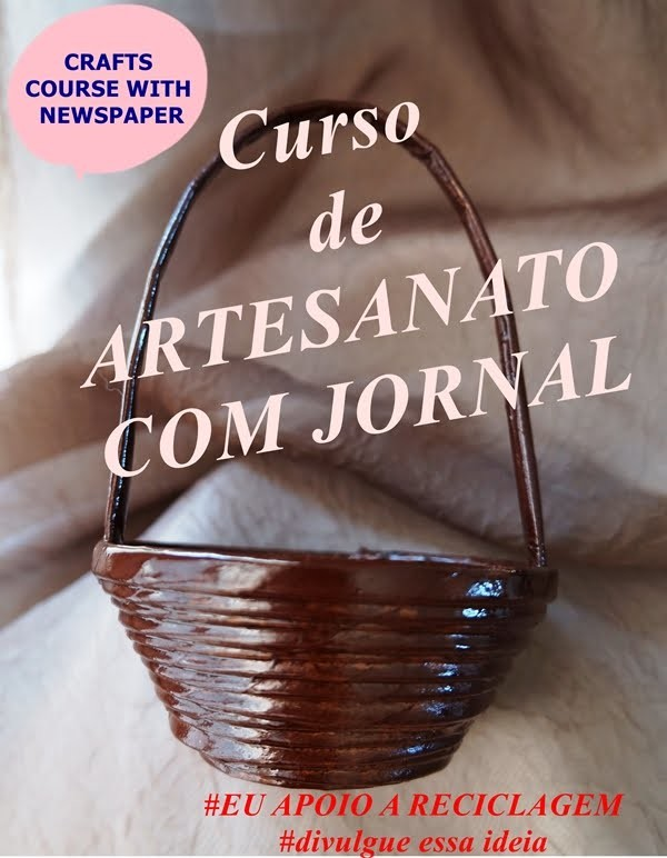 Artesanato com jornal # DIY RECYCLED PAPER CRAFTS