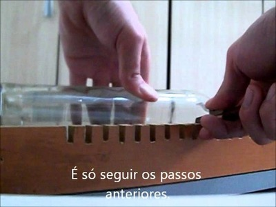 Como cortar garrafas de vidro utilizando resistência elétrica - 02 - Diego Osti.