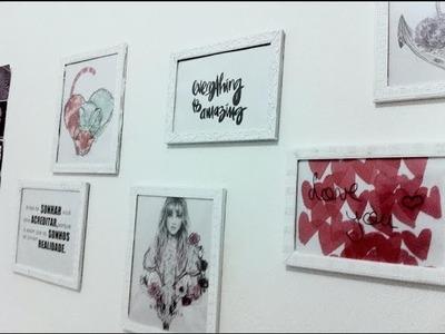D.I.Y:  Quadros Decorativos  | Decoração de quarto ♡  Decora tu habitación ♡  | room tour decor