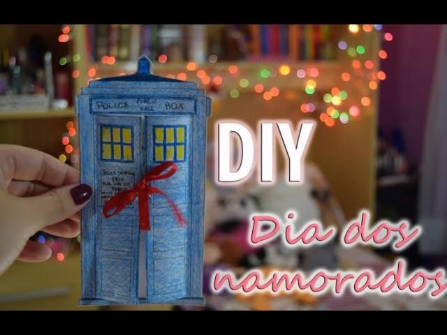 DIY dia dos namorados cartão TARDIS Doctor Who | Mandy Francesa