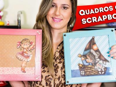 DIY Quadros de Scrapbook Passo a Passo Faca Você Mesma Decoração Artesanato