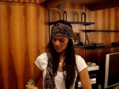 DIY - Um jeito legal de transformar um cachecol em faixa para cabeça!