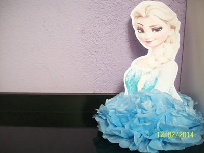 Enfeite De Mesa Elsa - Decorando com Papel