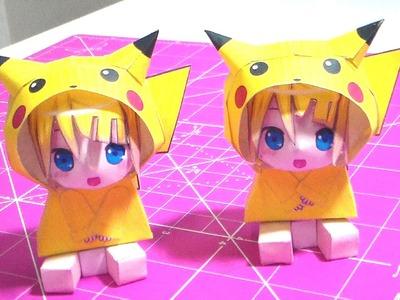 Faça Você Mesmo - Papercraft Pikachu