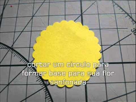 Flor sanfonada Scrapbook