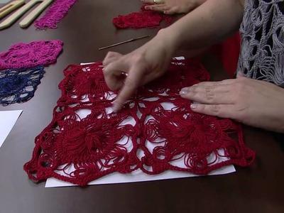 Mulher.com 02.04.2014 - Blusa em squares choche de grampo por Helen Mareth Parte 02