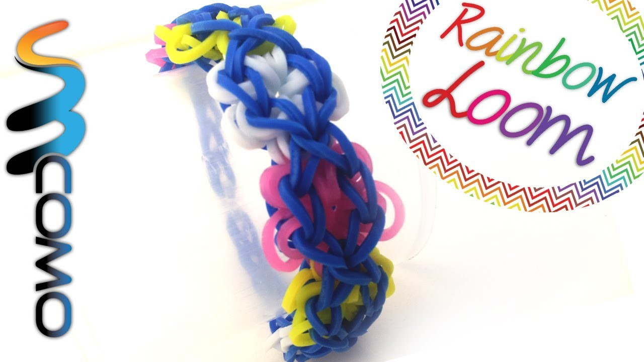 Rainbow Loom - Pulseira Flower Power
