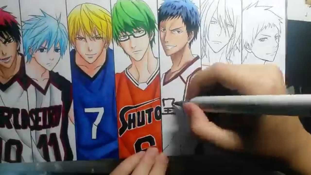 Speed Drawing - Kiseki no Sedai (Kuroko no Basket)