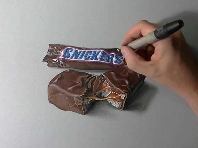 Artista italiano cria desenhos realistas capazes de confundir o teu cérebro - Chocolate Snickers