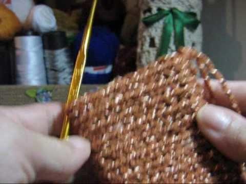 Croche - Luvas Sem Dedinhos (Execução Tubular) - Parte 02.02