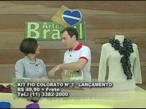 ARTE BRASIL - CLAUDIA MARIA - CACHECOL DE CORRENTINHAS EM CROCHÊ (06.09.2010 - Parte 2 de 2)