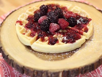 Como fazer Waffle - Uma massa para doces e salgados